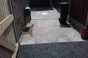 Groundwork: Landscaping with paving at Werrington, Staffordshire