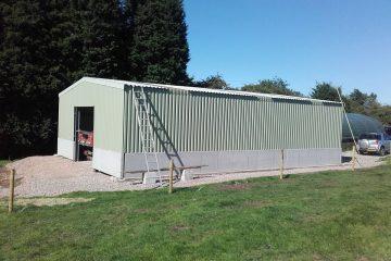 Groundwork: Steel frame building at Cheddleton, Staffordshire