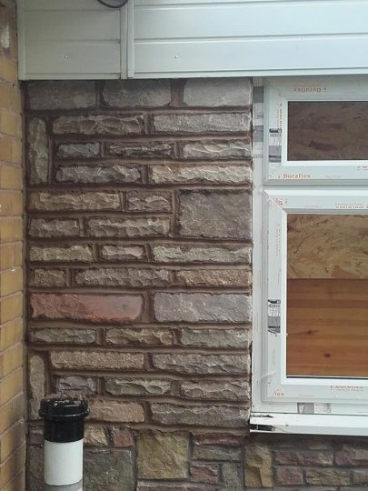 Single storey stone modification to extension, Leek