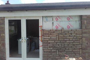 Single storey stone modification to extension, Leek